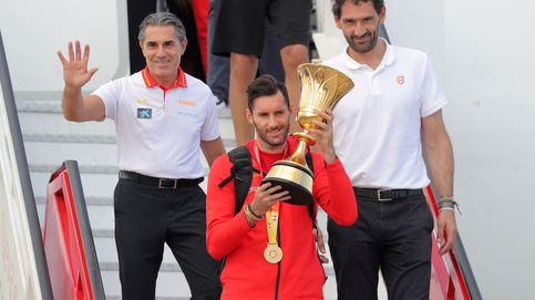 La celebración de la Selección: los jugadores se dirigen al Palacio de la Zarzuela
