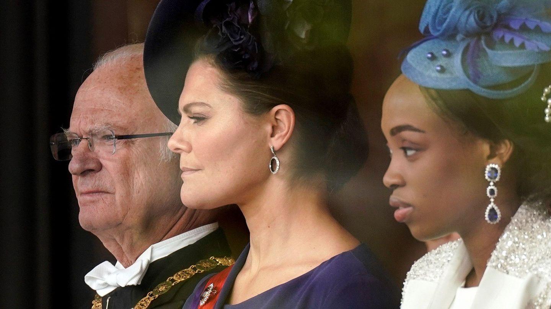 Carlos Gustavo y Victoria de Suecia. (Getty)