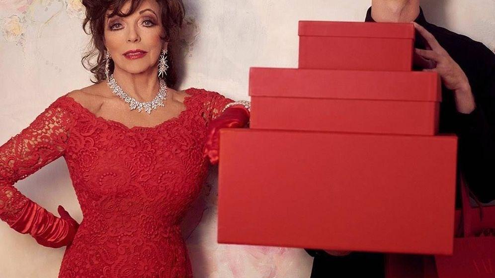 Foto: Joan Collins para Valentino.