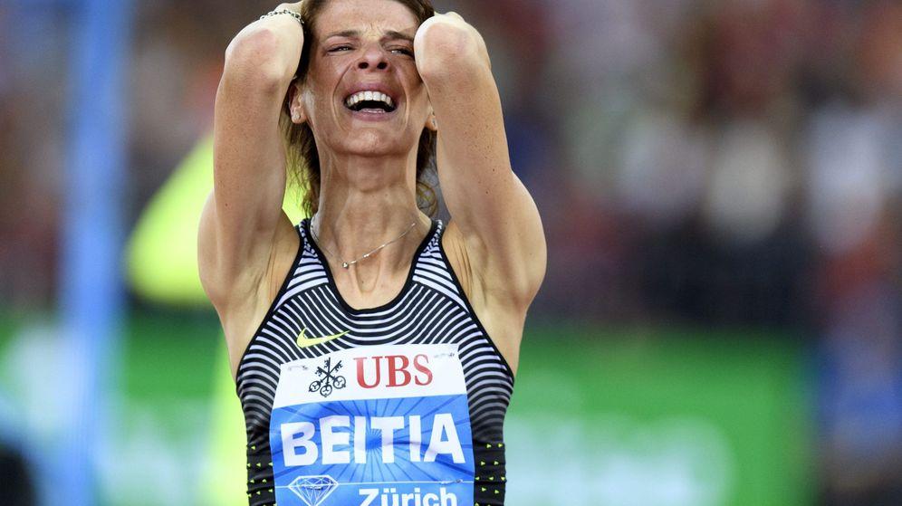 Foto: Beitia cierra la temporada con dos oros, una plata y un diamante (Jean-Christophe Bott/EFE)