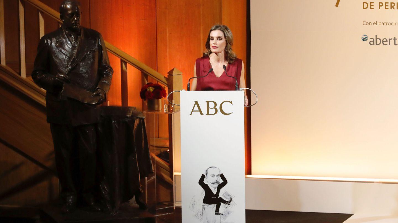 La reina Letizia en los premios anuales de 'ABC'. (EFE)