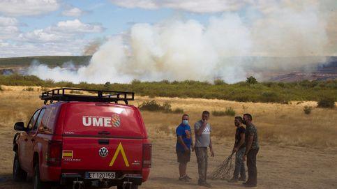 Estabilizado el incendio forestal de Zamora, el de mayor extensión del verano