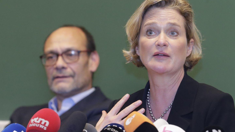 Delphine Boël, durante la rueda de prensa de este lunes. (EFE)
