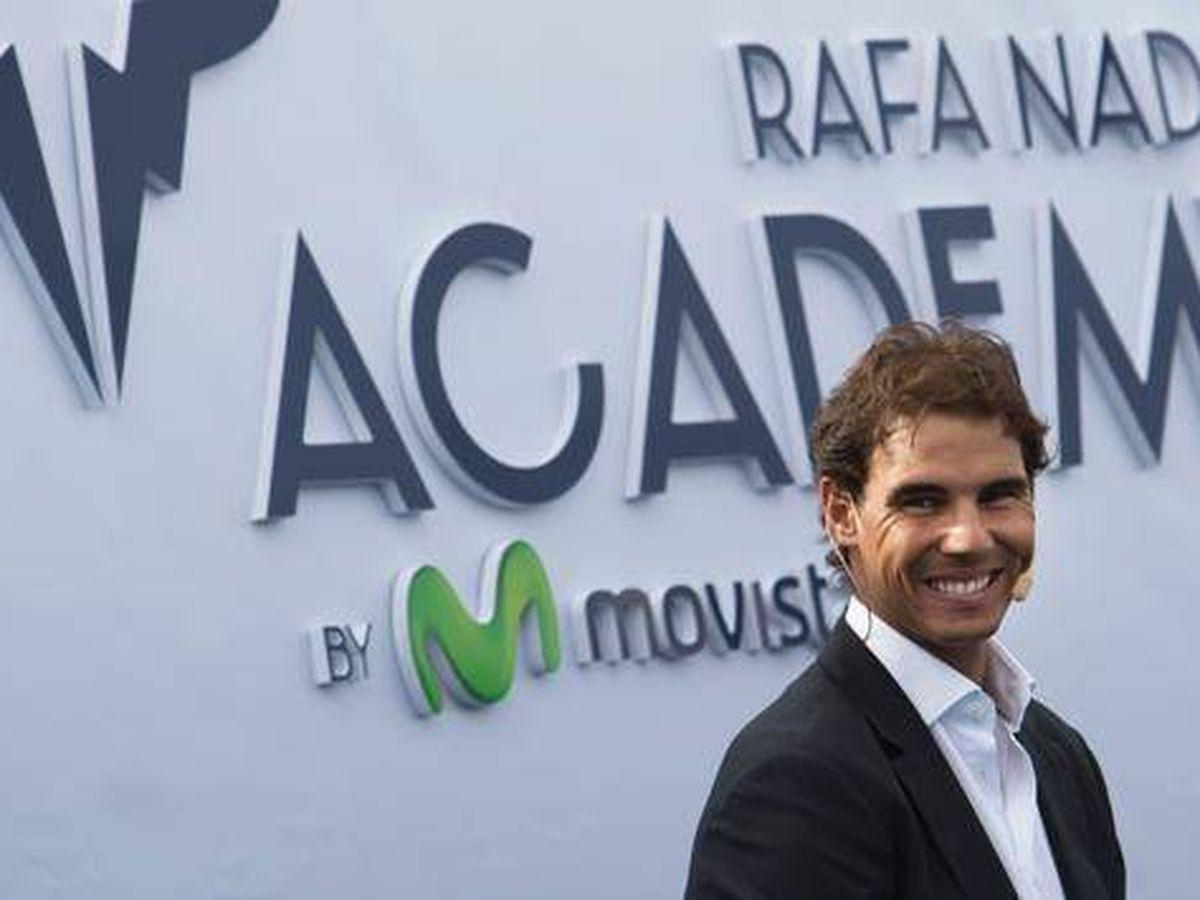 Foto: Rafa Nadal, en la presentación de su academia, instalada en Manacor. (EFE)