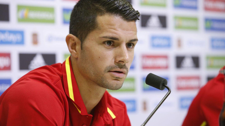 Vitolo durante una rueda de prensa con la selección española. (EFE)