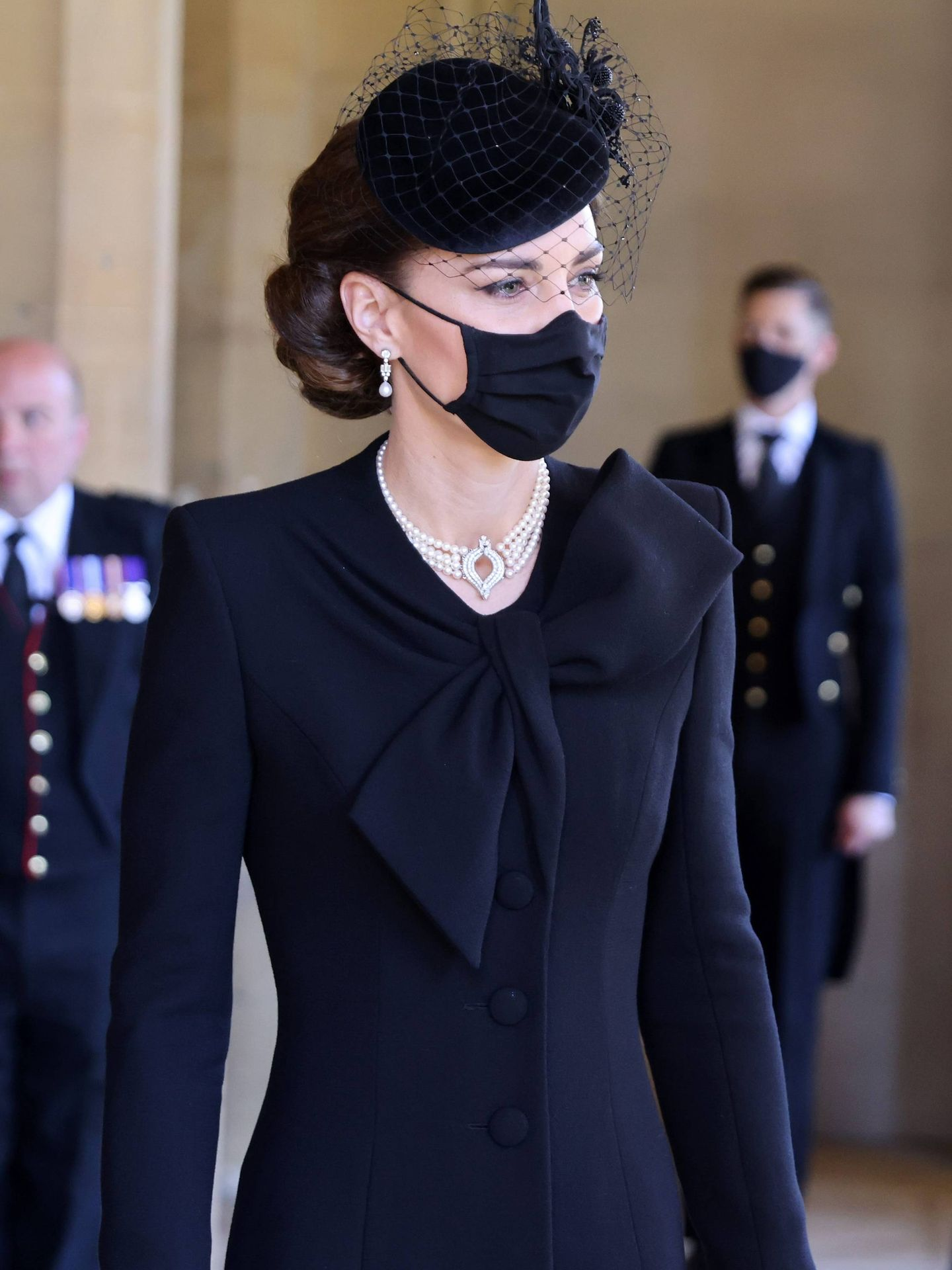 Kate, en el funeral. (Getty)