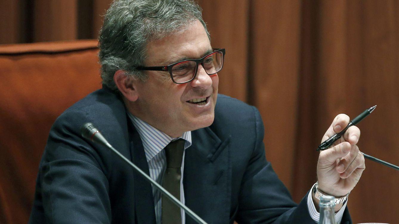 Foto: Jordi Pujol Ferrusola, durante su comparecencia ante la comisión de investigación del Parlament. (EFE/Andreu Dalmau)
