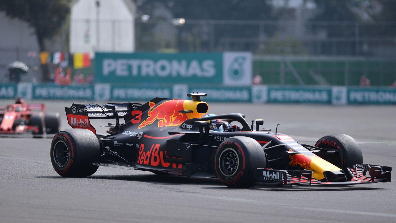Ricciardo durante el GP de México. (EFE)