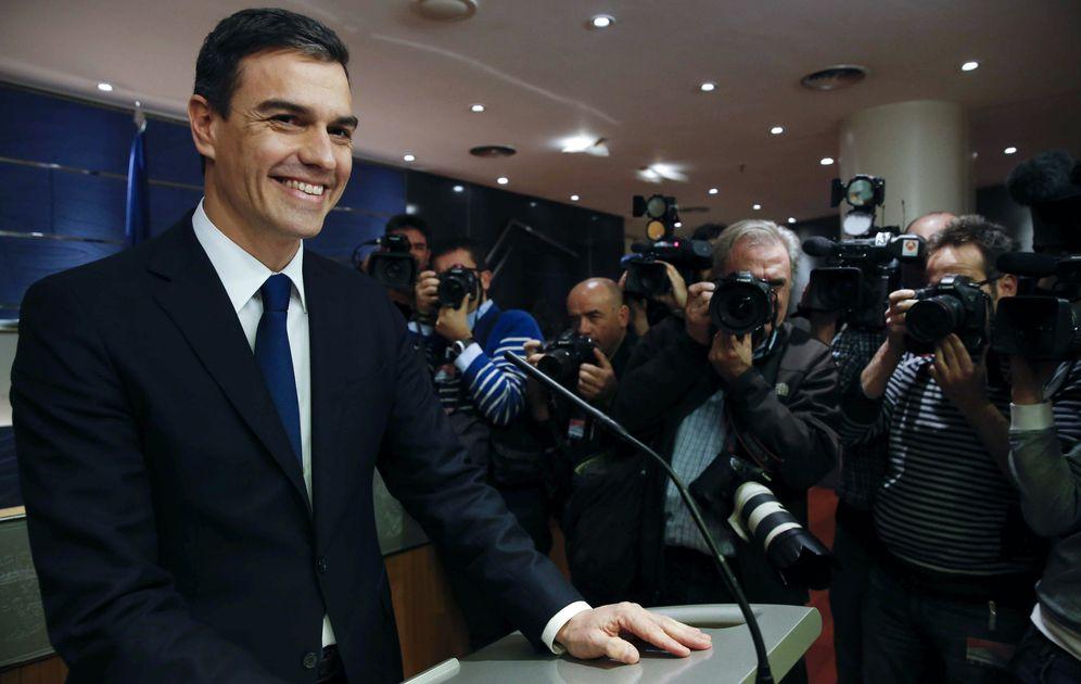 Foto: Pedro Sánchez, en el Congreso de los Diputados el pasado 22 de enero, tras reunirse con el rey Felipe VI en la Zarzuela. (EFE)