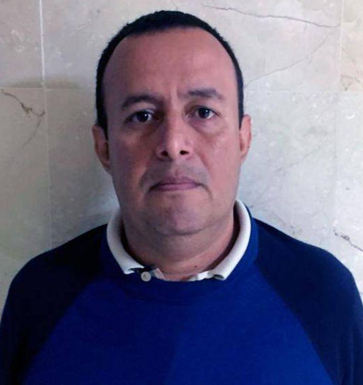 Diego García Arias, cuando fue detenido.