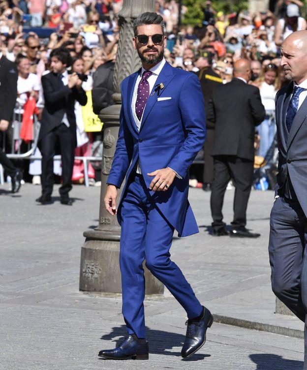 Foto: René Ramos, en la boda de Sergio, en Sevilla. (Cordon Press)