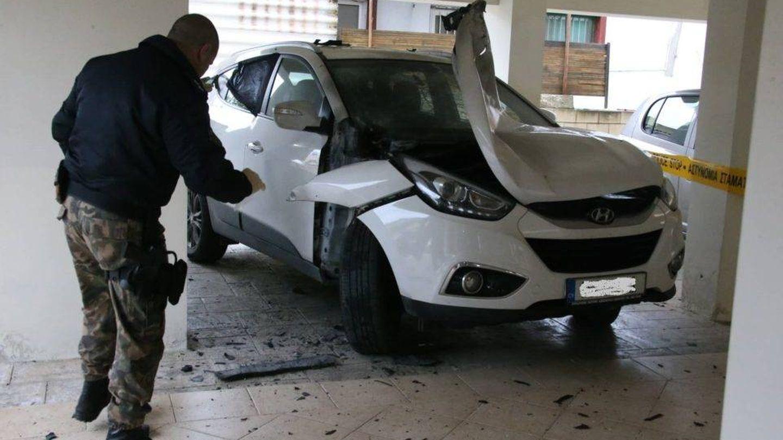 Bomba colocada el pasado enero en Larnaca (Chipre) en el coche de un árbitro de 33 años.