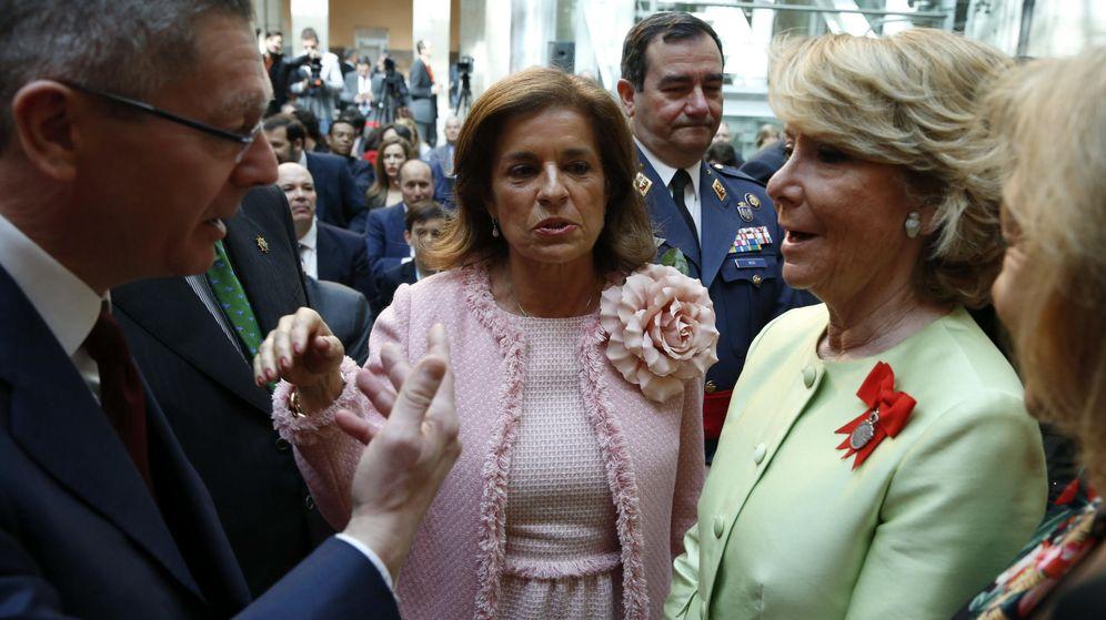 Foto: Ana Botella, alcaldesa de Madrid, junto con Esperanza Aguirre y Alberto Ruiz Gallardón. (EFE).