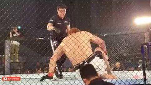 La caída un 'Gigante': así se gana al luchador de 2,20m