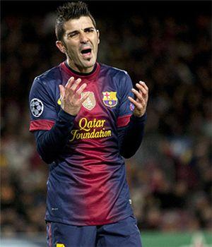 Villa, la nota que desentona en este Barça