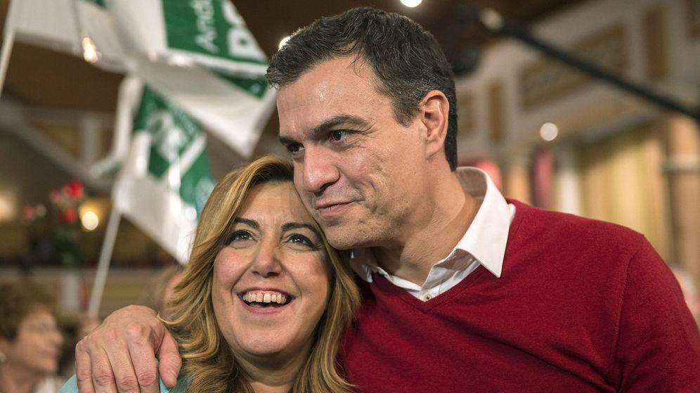 Foto: Pedro Sánchez y Susana Díaz en la recta final de la campaña. (EFE)