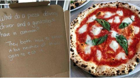 Pidió una pizza, se la mandaron con un chiste y se lió una buena
