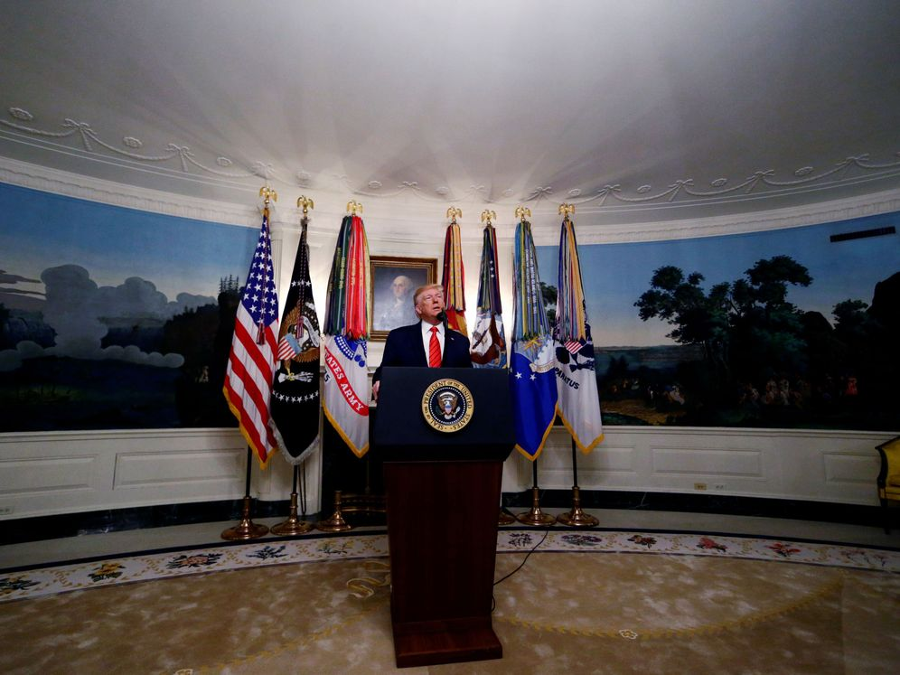 Foto: Trump anuncia la muerte del líder del Daesh. (EFE)