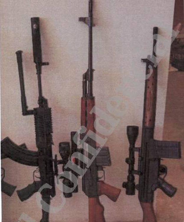 Algunas de las armas de Santiago Sánchez Ramírez. (EC)