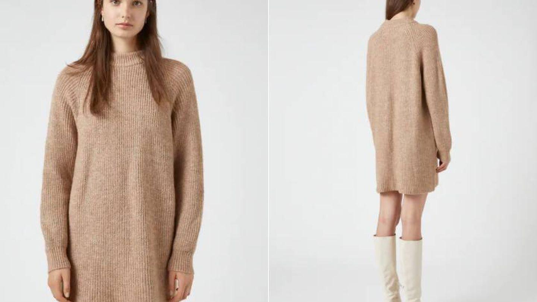 Jersey vestido de Pull and Bear. (Cortesía)