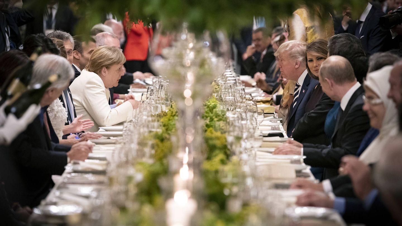 La foto completa de la cena de los mandatarios del G20. (Getty)