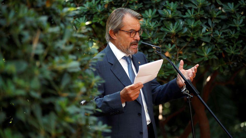Foto: El expresidente de la Generalitat Artur Mas, esta mañana. (EFE)
