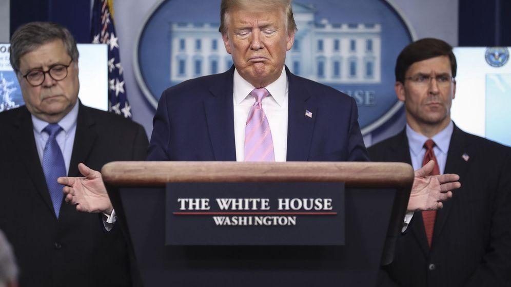 Foto: Trump, durante la rueda de prensa. (EFE)