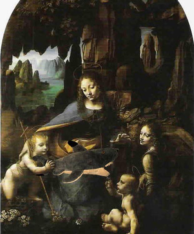 Foto: 'Virgen de las Rocas' de Leonardo Da Vinci (Flickr).