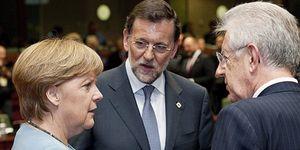 El presidente, a punto de sonar la campana, recurrió a Merkel y se apoyó en Monti
