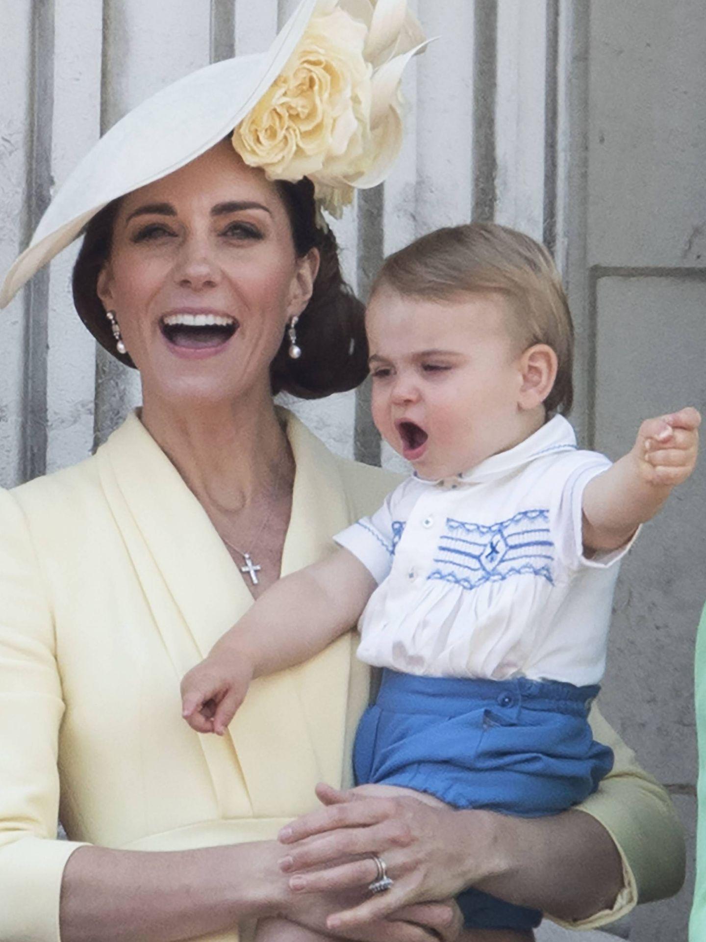 La duquesa, en el Trooping the Colour. (Getty)