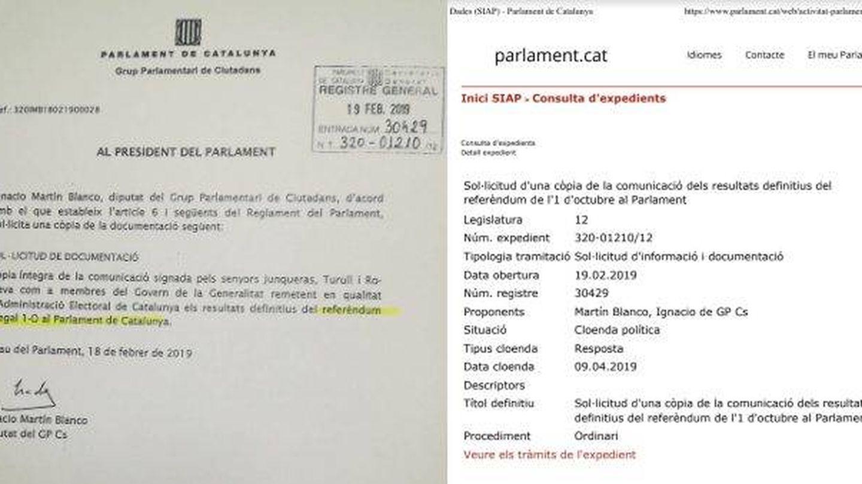 La oposición en el Parlament de Cataluña denuncia censuras en sus registros de preguntas.