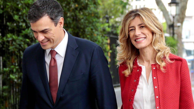 Pedro Sánchez y Begoña Gómez. (Reuters)