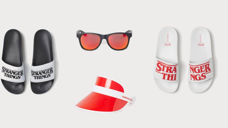 Complementos de la colección cápsula de 'Stranger Things' de H&M. (Cortesía)