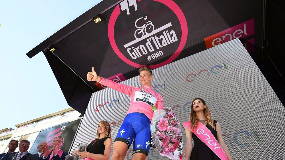 Foto: Kittel repitió y se vistió de rosa (EFE EPA ALESSANDRO DI MEO).