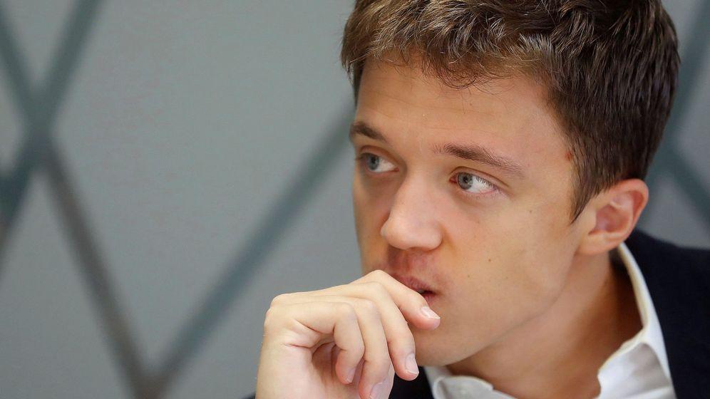 Foto: Íñigo Errejón en la entrevista con la Agencia EFE.
