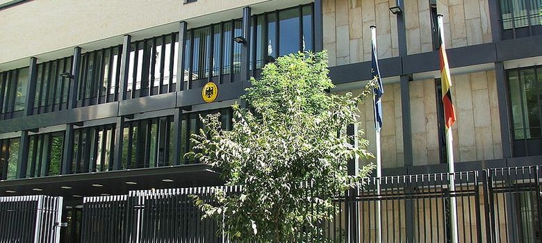 Foto: La embajada de Alemania en España, ubicada en el número 8 de la madrileña calle Fortuny