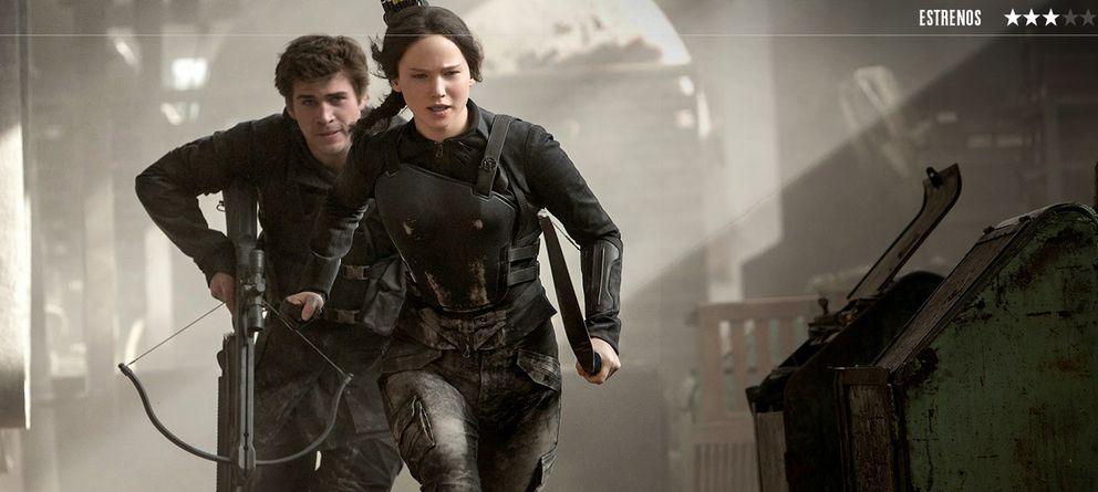 Foto: Liam Hermsworth y Jennifer Lawrence en 'Los juegos del hambre: Sinsajo. Parte 1'