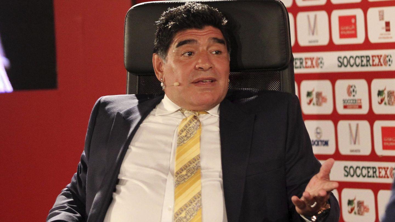 Maradona, durante el acto en Jordania al que hace referencia Balagué. (EFE)