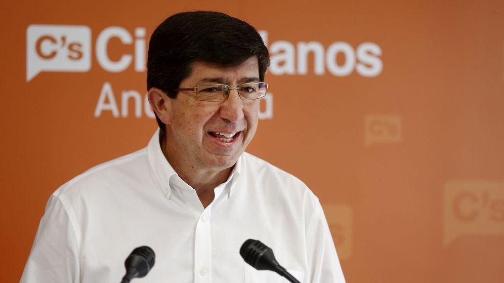 Foto: El presidente del grupo parlamentario y portavoz de Ciudadanos en Andalucía, Juan Marín. (Efe)