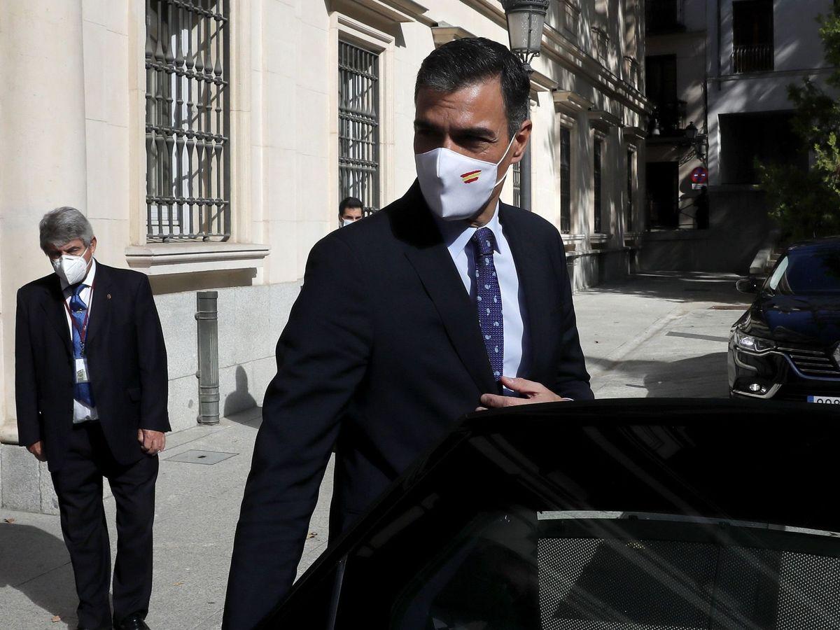 Foto: El presidente del Gobierno, Pedro Sánchez, tras la celebración la Conferencia de Presidentes autonómicos de este lunes en Madrid. (EFE)
