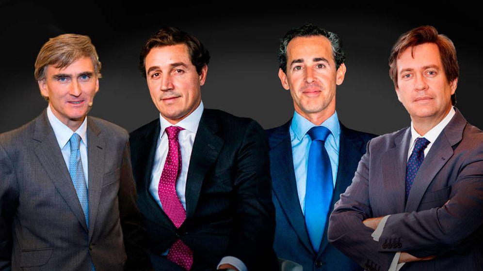 Foto: Francisco Paramés (Cobas), Fernando Bernard y Álvaro Guzmán de Lázaro (Azvalor) y Beltrán de la Lastra (Bestinver).