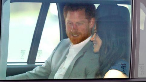 Último paseo de solteros de Meghan  y Harry para tomar el té con Isabel II