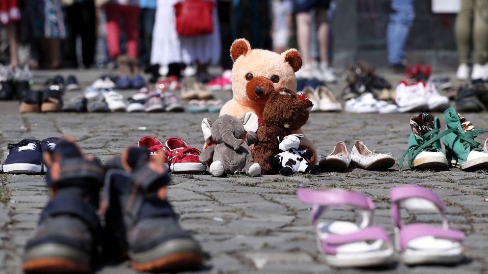 Foto: Protesta por el caso de Alexandra en Bucarest. (EFE)