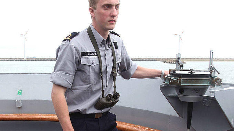 El príncipe Joaquín de Bélgica, durante sus años en la Escuela Náutica Militar. (Getty)