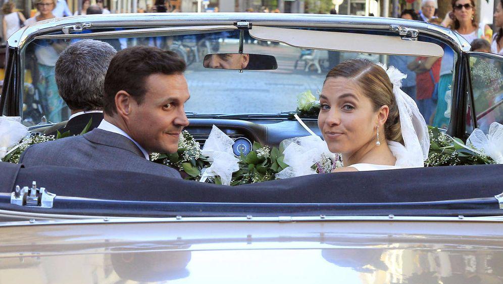 Foto: Leire Martínez y Jacobo Bustamante el día de su boda. (Gtres)