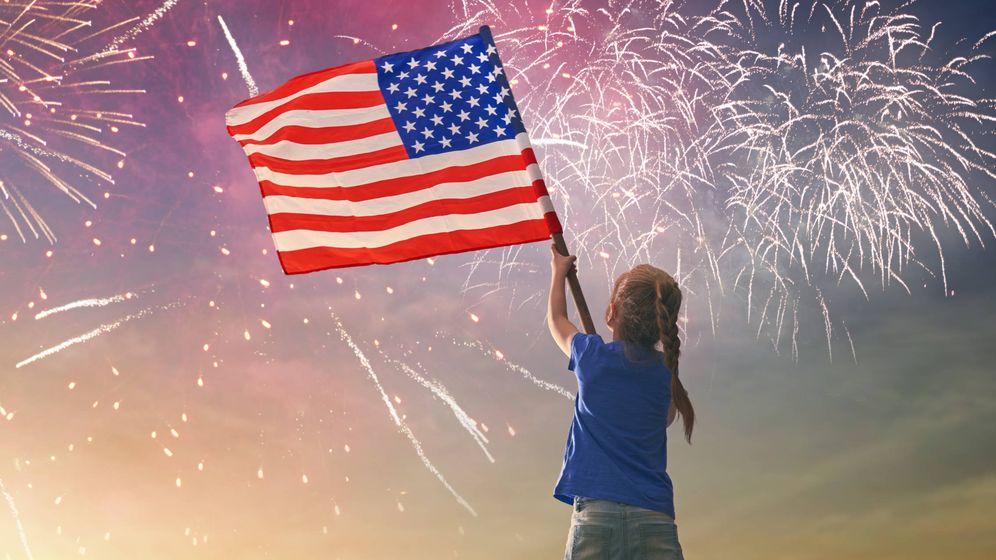 Foto: Una niña celebra el Día de la Independencia, 4 de julio, en EEUU. (iStock)