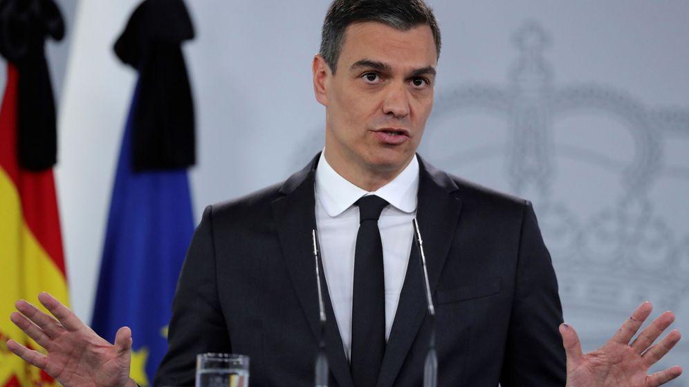 Foto: Rueda de prensa del presidente del Gobierno, Pedro Sánchez. (EFE)