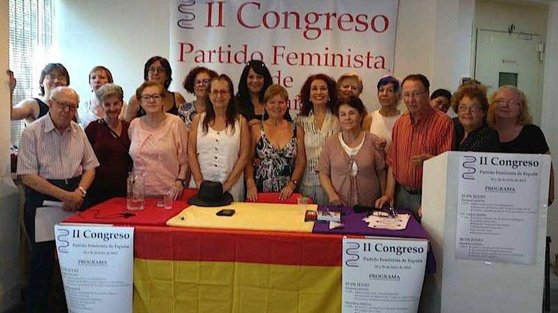El segundo congreso en la historia del PFE apenas reunió a una decena de militantes. (Web del PFE)