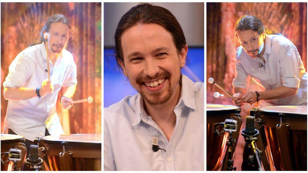 Pablo Iglesias cambia la guitarra por los tambores en 'El hormiguero'