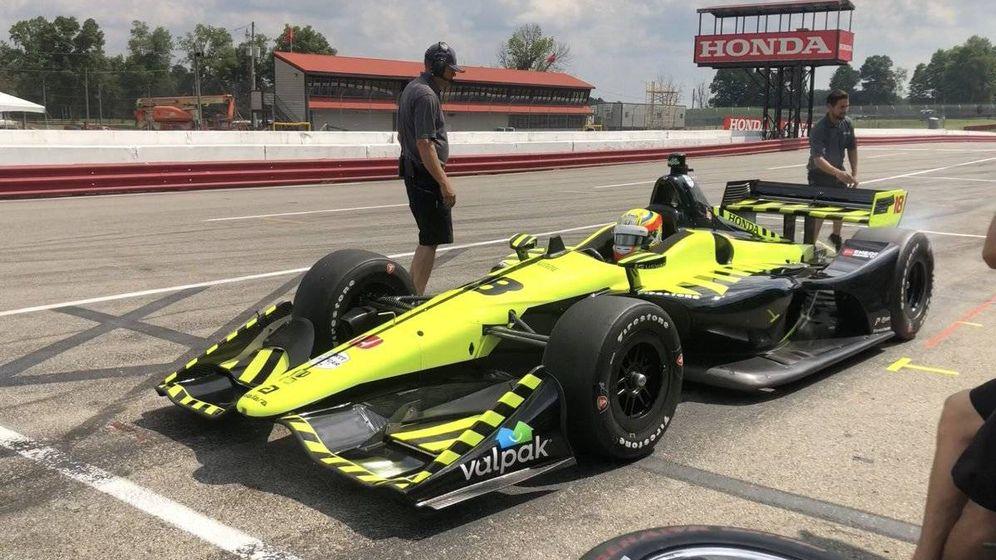 Foto: Alex Palou, en su reciente prueba con el monoplaza del IndyCar y el equipo Dayle Coyne